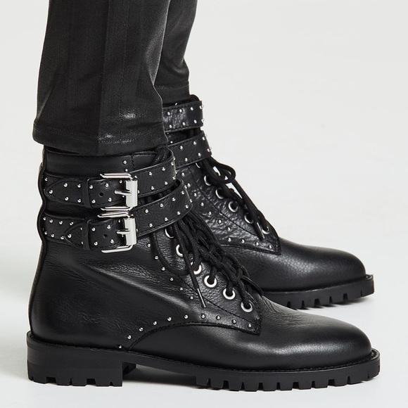 Jaiden Stud Combat Boot Size